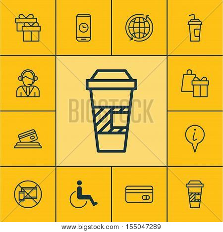 Set Of Airport Icons On Shopping, World And Operator Topics. Editable Vector Illustration. Includes