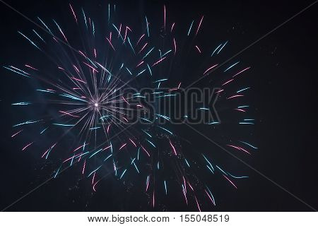Small Fireworks During The Celebrations At Night