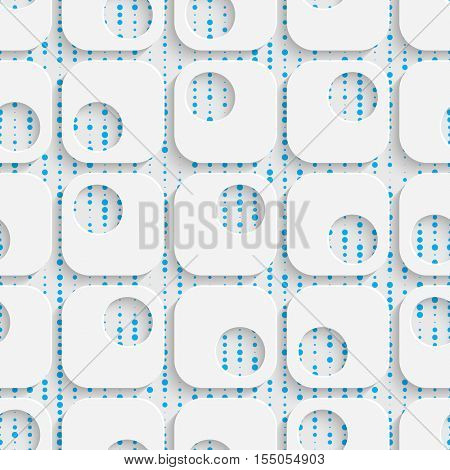 Seamless Geometric Pattern. 3d Modern Lattice Background. Decorative Minimalistic Tile Wallpaper. Delicate Wrapping Paper Design