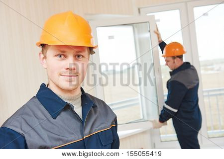 window installation workers