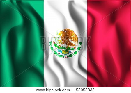 Flag Of Mexico. Aspect Ratio 2 To 3