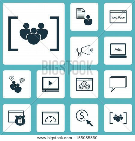 Set Of Marketing Icons On Seo Brainstorm, Loading Speed And Questionnaire Topics. Editable Vector Il
