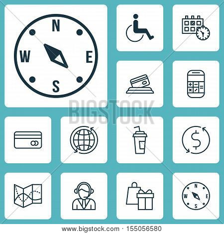 Set Of Transportation Icons On Locate, Appointment And Road Map Topics. Editable Vector Illustration