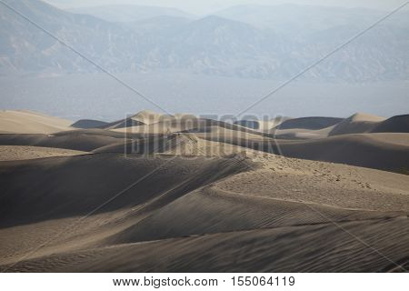 Mesquite Flat sand dunes in Death Valley, California