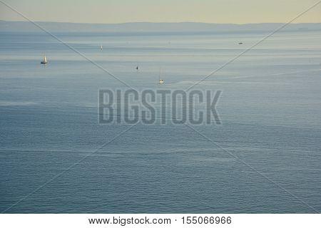 A stretch of the northern Adriatic Sea taken from Duino in Friuli Venezia Giulia Italy