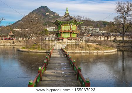 The Pavilion Of Far-reaching Fragrance In Gyeongbokgung Palace Complex, Seoul
