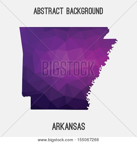 Arkansas state map in geometric polygonal style.Abstract tessellation,modern design background. Vector illustration EPS8 poster