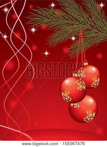 Elegant christmas background with bubbles and balls