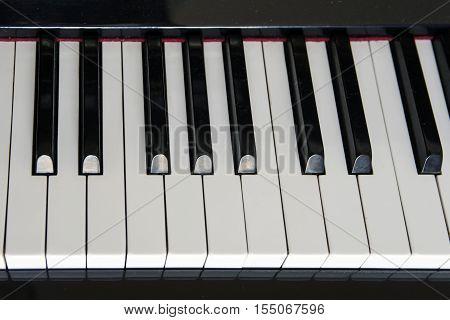 close-up piano keys. classical music - Stock Photo