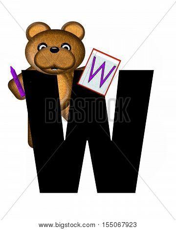 Alphabet Teddy Homework W