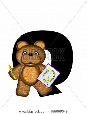 Alphabet Teddy Homework Q