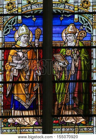 Saints Athanasius And Gregorius - Stained Glass