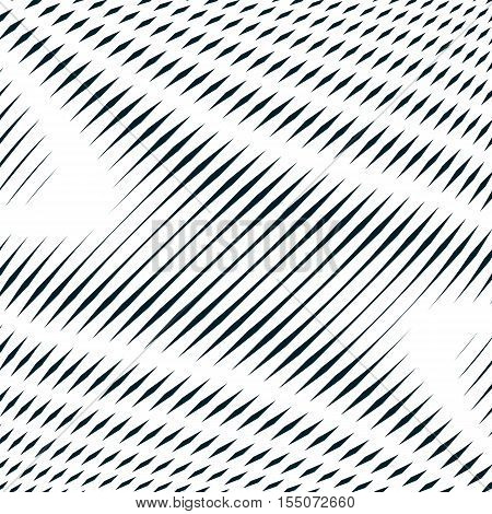 Noisy contrast lined backdrop tiling with visual effects. Moire art technique.