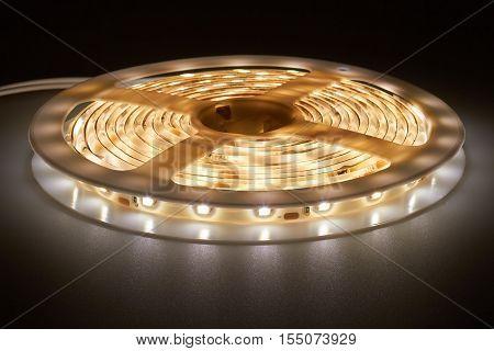 Three-meter-long light strip with light-emitting light-emitting diodes.
