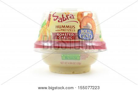 Sabra Hummus With Rold Gold Pretzels