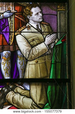 Stained Glass - King Leopold Iii Of Belgium