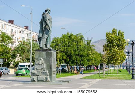 Novorossiysk Krasnodar Krai Russia - August 28 2016. Monument to the Unknown Sailor was opened in 1961. It is dedicated to all of the Black Sea sailors who took part in the Second World War and the Civil War.
