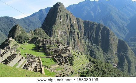 view of machu pichu, national park in peru