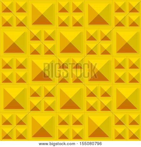 Tiles texture from gold metal blocks. Seamless pattern. Vector eps10 illustration