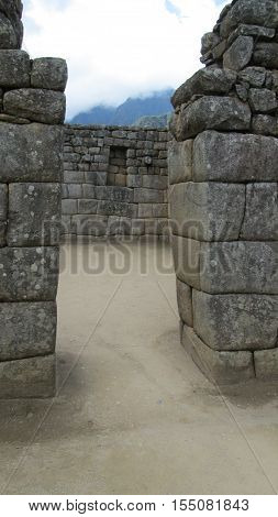 view of machu pichu national park in peru