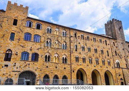 Hdr Piazza Dei Priori In Volterra