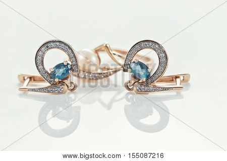 Gold Ring, Earrings And Chains