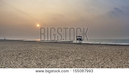Famous Lido Beach Of Venice In Morning Light