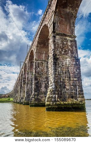 View of the old bridge in Berwick-upon-Tweed