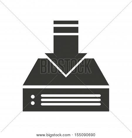 e-book download isolated icon vector illustration design