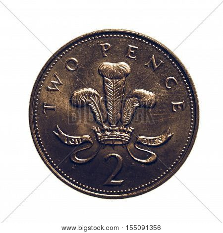 Vintage Two Pence Coin