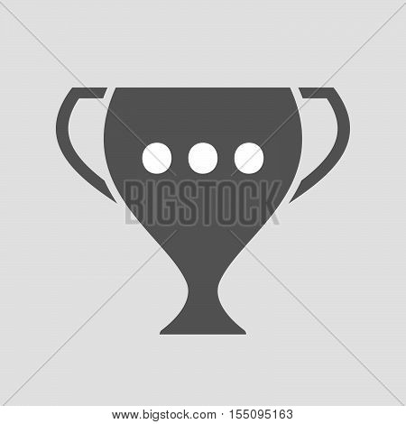 Isolated Award Cup Icon With  An Ellipsis Orthographic Sign