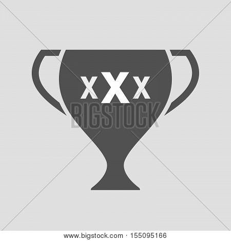 Isolated Award Cup Icon With  A Xxx Letter Icon