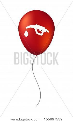 Isolated Air Balloon With  A Gas Hose Icon
