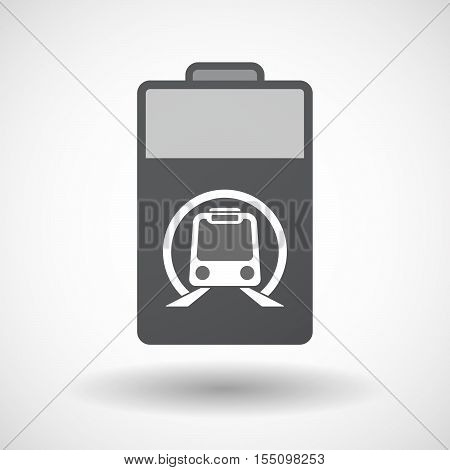 Isolated Battery Icon With  A Subway Train Icon