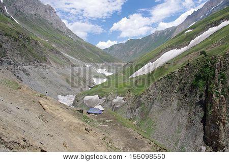Landscape between Sonamarg and Kargil in Kashmir, India