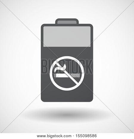 Isolated Battery Icon With  A No Smoking Sign