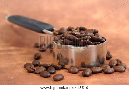 coffee beans ina scooper poster