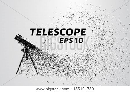The telescope of the particles. The telescope consists of small circles and dots.