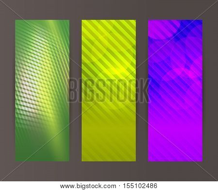Vertical Banner Set Design Element Background Glow Abstract Shape02