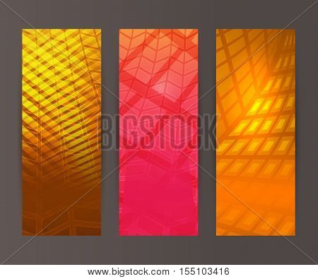 Vertical Banner Set Design Element Background Glow Abstract Shape05