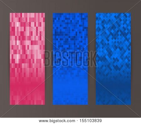 Vertical Banner Set Design Element Background Glow Abstract Shape07