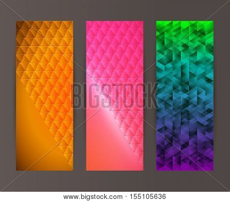 Vertical Banner Set Design Element Background Glow Abstract Shape15