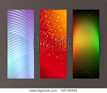 Vertical Banner Set Design Element Background Glow Abstract Shape17