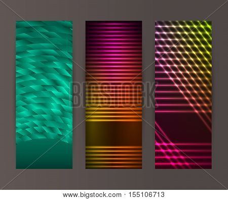 Vertical Banner Set Design Element Background Glow Abstract Shape20