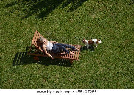 Woman On A Deckchair