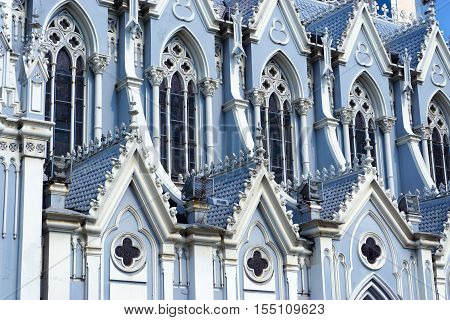 Details of the church known as La Ermita in Cali Colombia