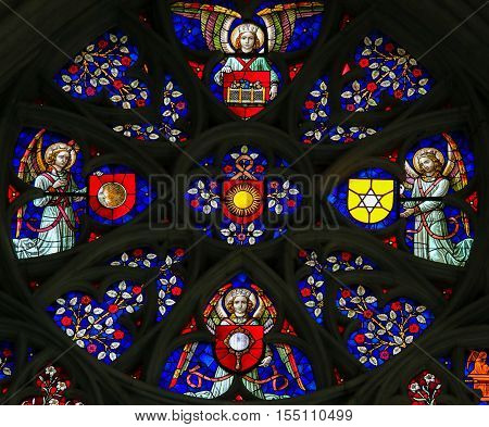 Stained Glass - Cathedral Of Mechelen