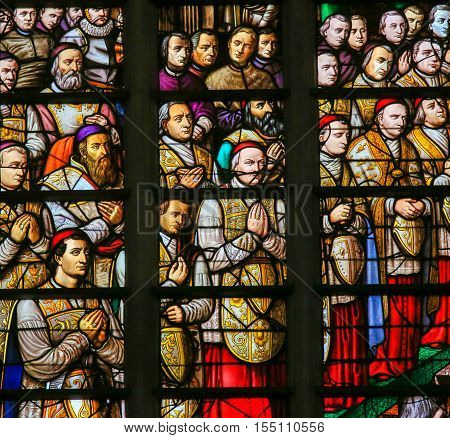 Stained Glass In Mechelen Cathedral