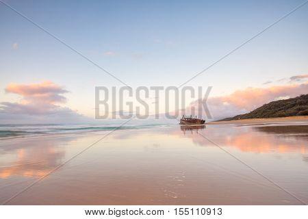 The Maheno shipwreck on Fraser Island's 75 mile beach