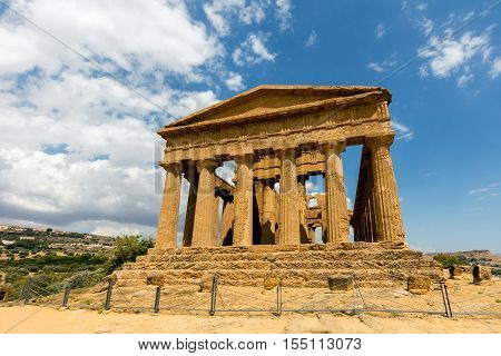 Temple Of Concordia In Agrigento, Sicily